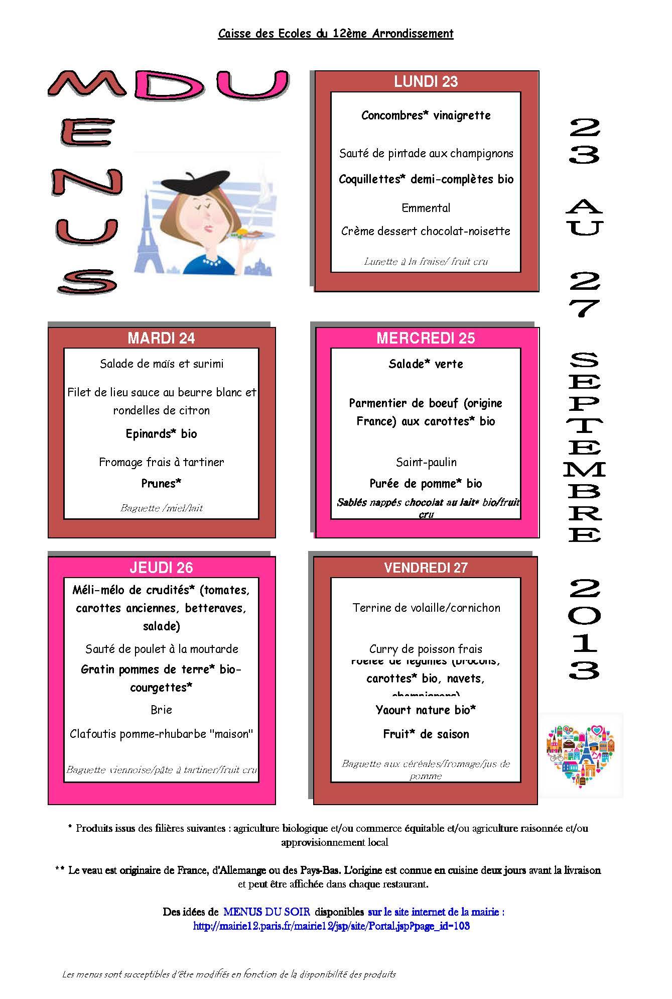 Idees menu cheap menus de la semaine imprimer vierge with idees menu latest french school - Idee menu halloween ...