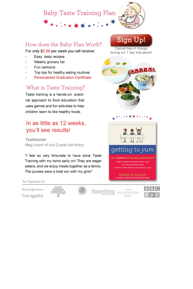 Baby taste training description v8