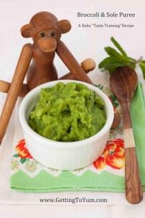 Broccoli Sole Puree from GettingToYum