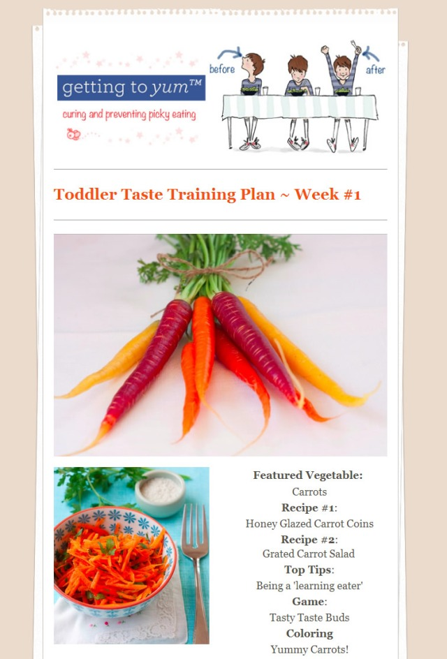 Toddler Taste Training Plan #1 - sample