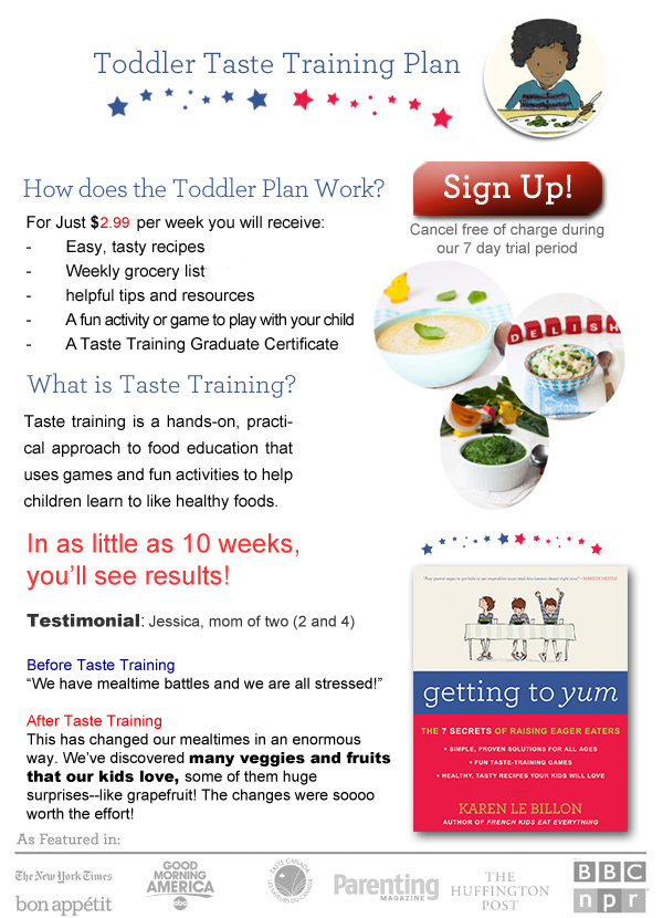 toddler taste training plan V8